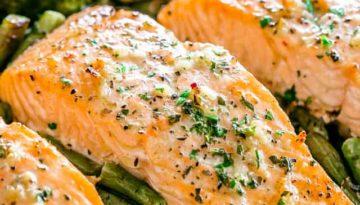Garlic Butter Baked Salmon